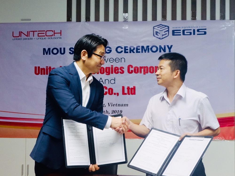 Lễ kí kết Văn bản ghi nhớ giữa Unitech và EGIS Hàn Quốc